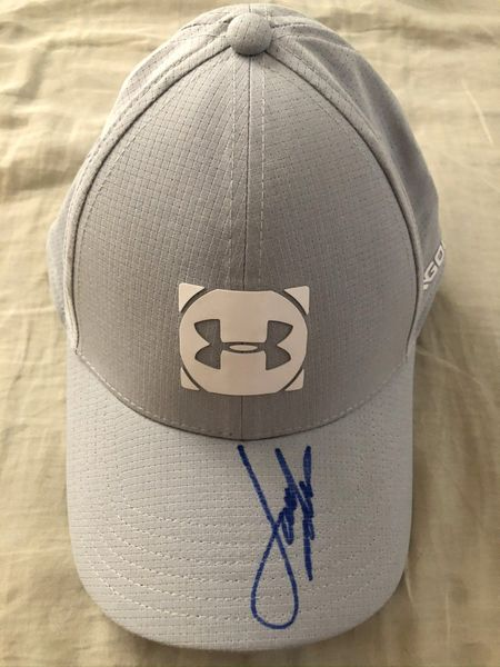 Jordan Spieth autographed Under Armour Golf gray personal model cap or hat