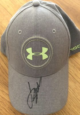 Jordan Spieth autographed Under Armour Golf gray and green cap or hat