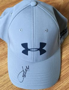 Jordan Spieth autographed Under Armour gray and blue cap or hat
