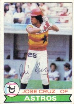 Jose Cruz autographed Houston Astros 1979 Topps card