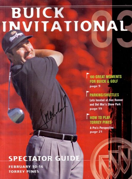 Jose Maria Olazabal autographed 2003 Buick Invitational golf program