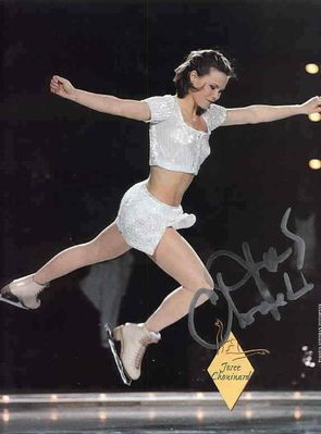 Josee Chouinard autographed full page magazine figure skating photo
