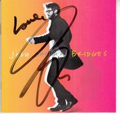 Josh Groban autographed Bridges 2018 CD booklet inscribed Love with CD and signing photo
