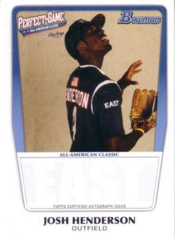 Josh Henderson 2011 Perfect Game Topps Bowman Rookie Card (AFLAC)