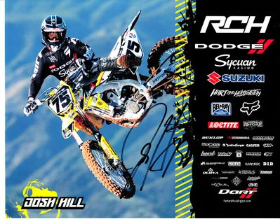 Josh Hill autographed 8x10 motocross or supercross promo photo
