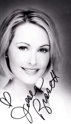 Josie Bissett autographed black & white photo