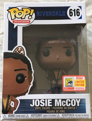 Josie McCoy Riverdale Funko Pop with 2018 San Diego Comic-Con exclusive sticker MINT
