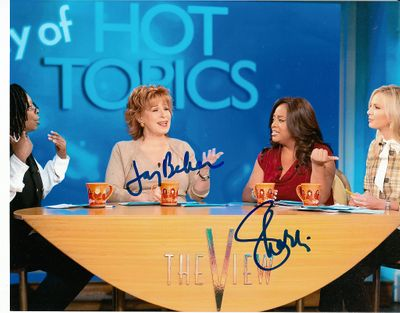 Joy Behar & Sherri Shepherd autographed The View 8x10 photo