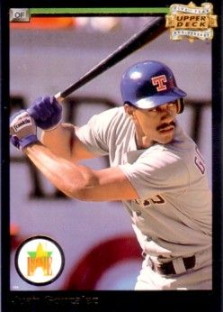 Juan Gonzalez 1993 Upper Deck Fifth Anniversary insert card
