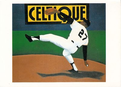 Juan Marichal San Francisco Giants artwork postcard