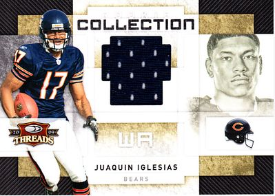 Juaquin Iglesias 2009 Donruss Threads event worn game jersey Rookie Card #90/500