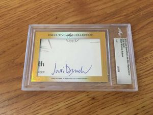 Judi Dench 2015 Leaf Masterpiece Cut Signature certified autograph card 1/1 JSA
