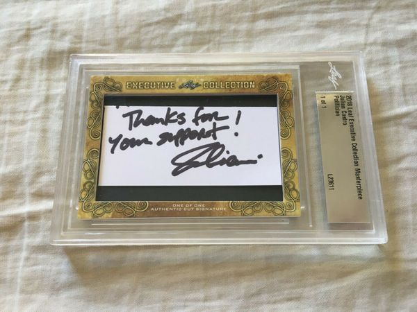Julian Castro 2018 Leaf Masterpiece Cut Signature certified autograph card 1/1 JSA