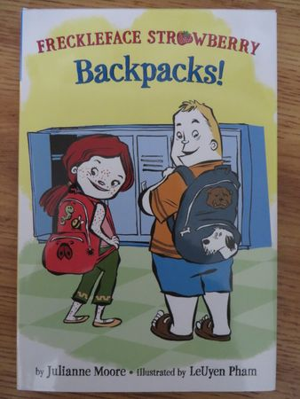 Julianne Moore autographed Freckleface Strawberry Backpacks! children's book