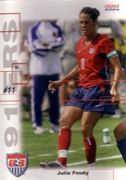 Julie Foudy 2004 U.S. Women's National Team 91ers soccer card