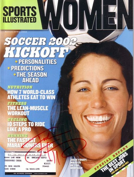 Julie Foudy autographed 2002 Sports Illustrated for Women magazine