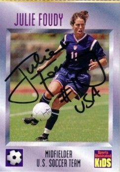 Julie Foudy autographed U.S. Soccer 1997 Sports Illustrated for Kids card