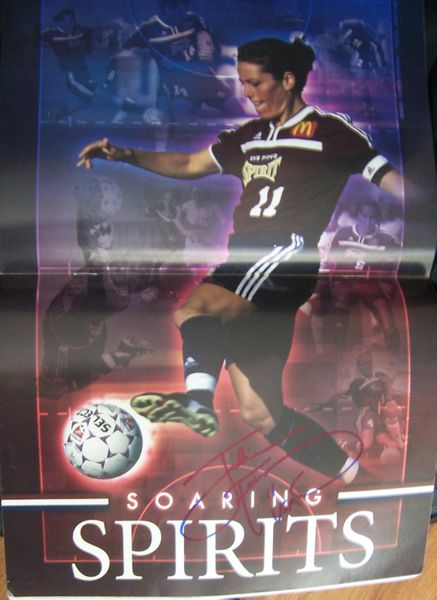 Julie Foudy autographed WUSA San Diego Spirit magazine centerfold poster