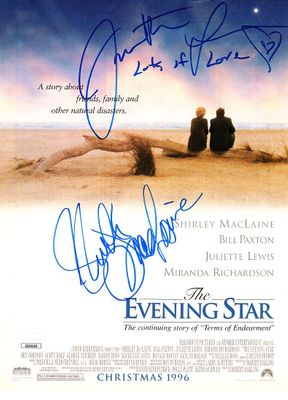 Juliette Lewis and Shirley MacLaine autographed Evening Star movie full page magazine ad JSA