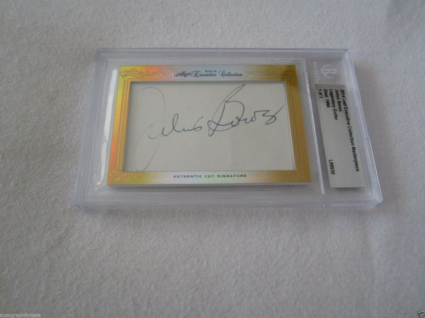 Julius Boros 2014 Leaf Masterpiece Cut Signature certified autograph card 1/1 JSA