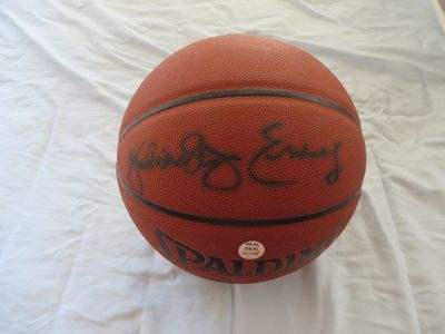 Julius (Dr. J) Erving autographed Spalding NBA All Surface basketball