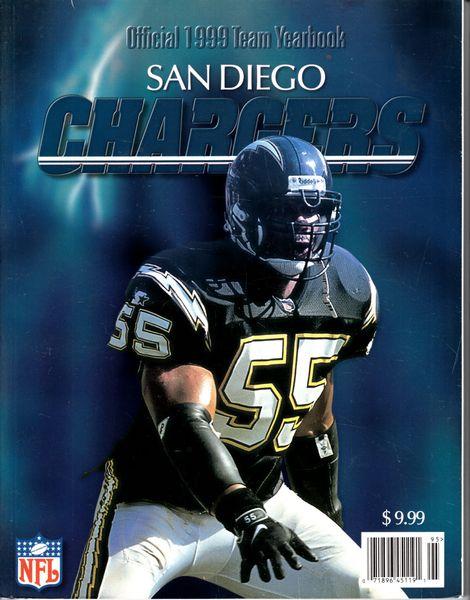 Junior Seau 1999 San Diego Chargers Team Yearbook magazine
