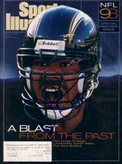 Junior Seau autographed San Diego Chargers 1993 Sports Illustrated cover matted & framed