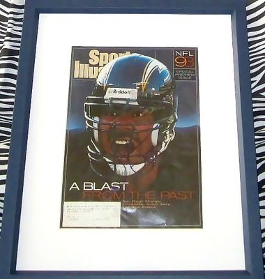Junior Seau autographed San Diego Chargers 1993 Sports Illustrated cover matted and framed