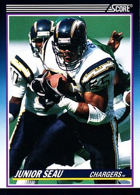 Junior Seau San Diego Chargers 1990 Score Supplemental Rookie Card #65T