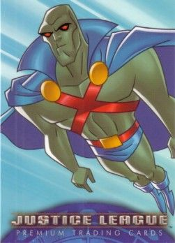 Justice League 2003 Inkworks promo card 7 (Martian Manhunter)