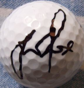 Justin Rose autographed golf ball