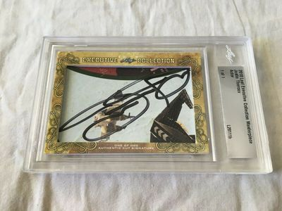 Justin Theroux 2018 Leaf Cut Signature Masterpiece certified autograph card 1/1 JSA