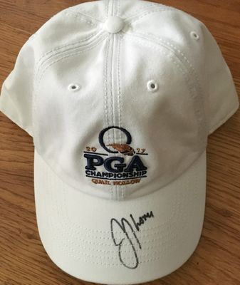 Justin Thomas autographed 2017 PGA Championship golf cap or hat