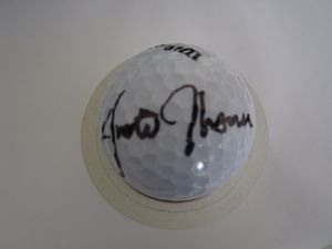 Justin Thomas autographed golf ball (full name signature)