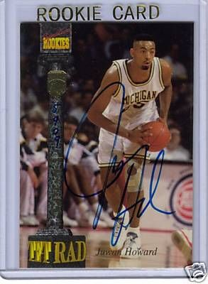 Juwan Howard certified autograph Michigan Wolverines Fab Five 1994 Signature Rookies card