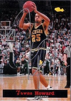 Juwan Howard certified autograph Michigan Wolverines 1994 Classic Draft Picks card