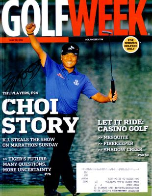 K.J. Choi autographed 2011 Players Championship Golf Week magazine