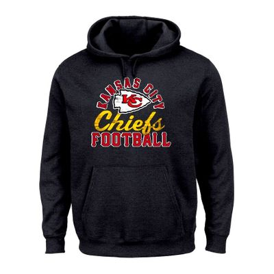 Kansas City Chiefs Majestic black heavyweight hoodie or hooded sweatshirt BRAND NEW WITH TAGS