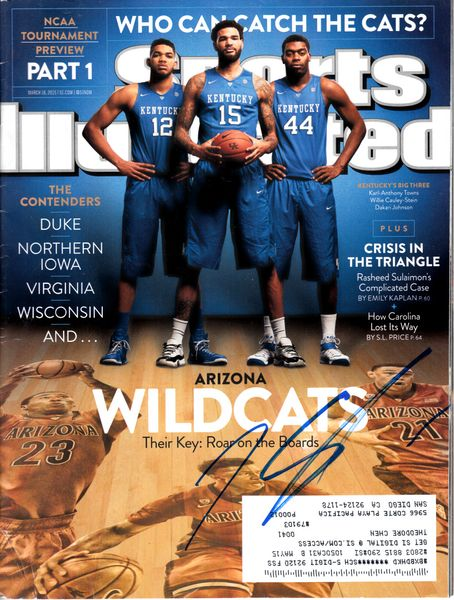 Karl-Anthony Towns autographed Kentucky Wildcats 2015 Sports Illustrated