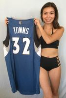 Karl-Anthony Towns Minnesota Timberwolves authentic Adidas blue rookie XL jersey NEW