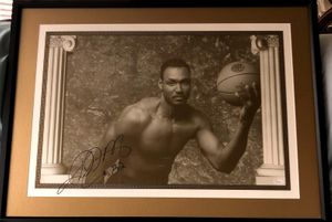 Karl Malone autographed 1992 USA Olympic Dream Team lithograph or poster matted and framed (JSA)