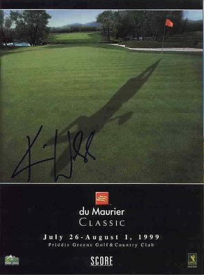 Karrie Webb autographed 1999 LPGA Du Maurier Classic tournament program