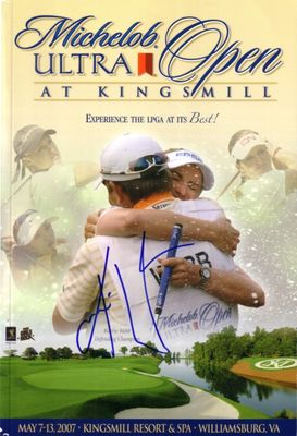 Karrie Webb autographed 2007 LPGA Michelob Ultra Open golf program