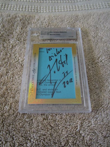Katarina Witt 2015 Leaf Masterpiece Cut Signature certified autograph card 1/1 JSA