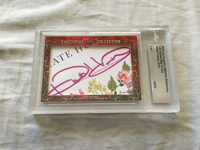Kate Hudson and Billy Crudup 2018 Leaf Masterpiece Cut Signature certified autograph card 1/1 JSA Almost Famous