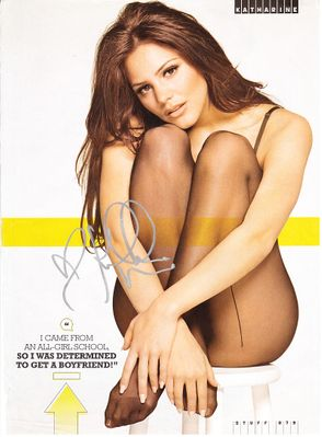 Katharine McPhee autographed sexy Stuff magazine full page photo