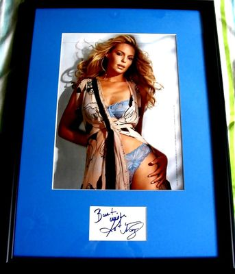 Katherine Heigl autograph framed with sexy FHM lingerie photo inscribed Best wishes