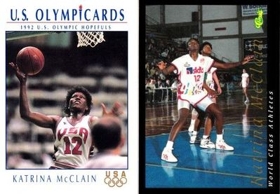 Katrina McClain 1992 Classic World Class Athletes and U.S. Olympic Hopefuls cards