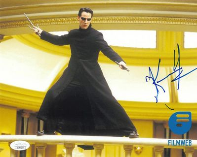 Keanu Reeves autographed Matrix Reloaded 8x10 movie photo (JSA)