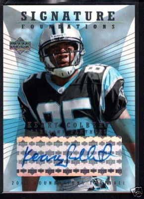 Keary Colbert certified autograph Carolina Panthers 2004 Upper Deck Foundations card